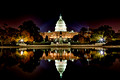 US Capitol Building at Night.